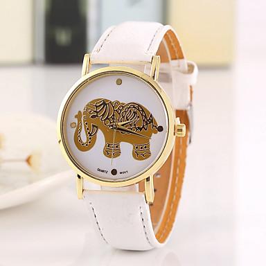 levne Dámské-Dámské dámy Náramkové hodinky Křemenný Z umělé kůže Černá Hodinky na běžné nošení Cool Analogové Vintage Na běžné nošení Módní - Černá Hnědá Bílá