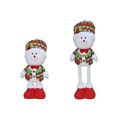ของเล่นคริสมาสต์ กระเป๋าของขวัญ Santa Suits Elk มนุษย์หิมะ สิ่งทอ ผู้ใหญ่ Toy ของขวัญ 3 pcs