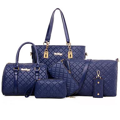 Γυναικεία Τσάντες ειδική Υλικό Σετ τσάντα   Φερμουάρ Καρφιά Μονόχρωμο Μαύρο    Καφέ   Μπλε 5482304 2019 –  24.99 08c76cf008e