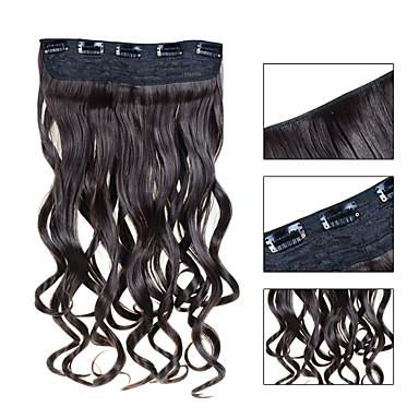 preiswerte Echthaar Haarverlängerungen-Febay Mit Clip Haarverlängerungen Wellen Synthetische Haare Haarteil Strawberry Blonde / Blond Blond