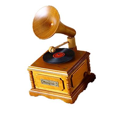กล่องดนตรี หวาน พิเศษ เรทโทร Creative เสียง ของขวัญ ไม้ เด็กผู้ชาย เด็กผู้หญิง ของขวัญ