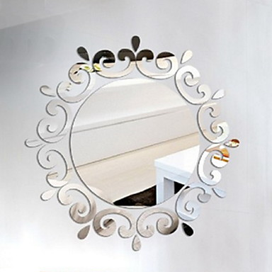 959 Dekoracyjne Naklejki ścienne Lustrzane Naklejki ścienne Kształty 3d Salon Sypialnia łazienka Usuwany