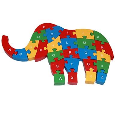 levne 3D puzzle-Puzzle Slon Zábavné Dřevěný Chlapecké / Dívčí Dárek