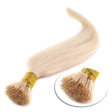 """voordelige Extensions van echt haar-16"""" medium bruin (# 4) 100s stok tip human hair extensions"""