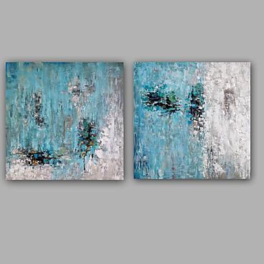 ภาพวาดสีน้ำมันแขวนทาสี มือวาด - แอ็ปสแต็ก ที่ทันสมัย รูปแบบสไตล์ยุโรป รวมถึงด้านในกรอบ / ผ้าใบยืด