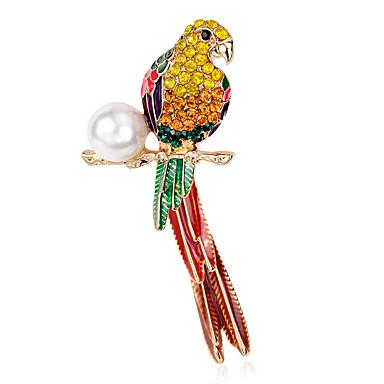 levne Dámské šperky-Dámské Brože Kytky Parrot dámy Luxus Perly Brož Šperky Duhová Pro Párty Denní Ležérní