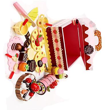 Pretend Play เล่นครัว ขนมเค้ก มีดตัดเค้ก & คุ้กกี้ แปลกใหม่ ไม้ สำหรับเด็ก เด็กผู้ชาย เด็กผู้หญิง Toy ของขวัญ