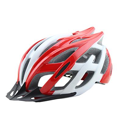 ผู้ใหญ่ หมวกกันน็อคจักรยาน 25 Vents กำไรต่อหุ้น พีซี กีฬา จักรยานปีนเขา Road Cycling ปั่นจักรยาน / จักรยาน - สีดำ สีเหลือง แดง สำหรับผู้ชาย สำหรับผู้หญิง ทุกเพศ