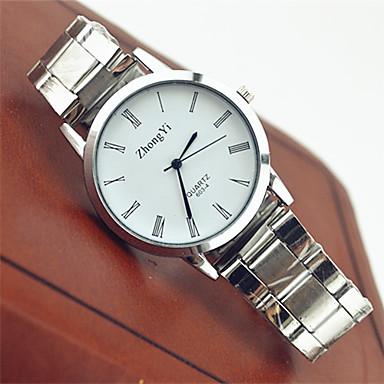 levne Dámské-Pro páry Náramkové hodinky Křemenný Nerez Bílá Žhavá sleva Analogové dámy Na běžné nošení Módní - Černá Bílá
