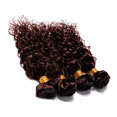 4 paket Brasilianskt hår Klassisk Stora vågor Obehandlad hår Human Hår vävar Hårförlängning av äkta hår Människohår förlängningar / 10A
