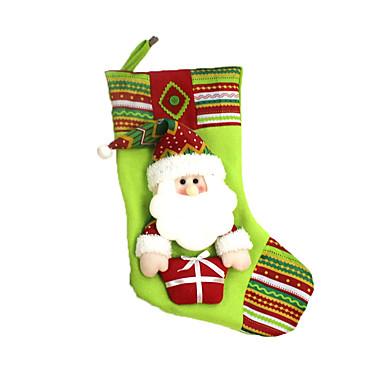 ตกแต่งวันคริสมาสต์ กระเป๋าของขวัญ Socks Santa Suits มนุษย์หิมะ สิ่งทอ ผู้ใหญ่ Toy ของขวัญ