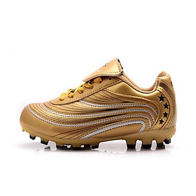 สำหรับผู้ชาย รองเท้าผ้าใบ รองเท้าฟุตบอล ป้องกันการลื่นล้ม น้ำหนักเบาพิเศษ (UL) Wearproof วิ่ง ลูกฟุตบอล น้ำเงินท้องฟ้า สีทอง สีเทา