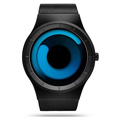 levne Pánské-SINOBI Pánské Sportovní hodinky Náramkové hodinky Křemenný Nerez Černá 30 m Voděodolné Odolný vůči nárazu Analogové Luxus Na běžné nošení Unikátní kreativní sledování Jednoduché hodinky - Modrá Čern