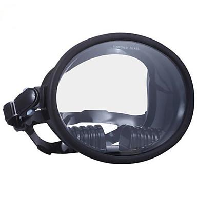 WAVE หน้ากากดำน้ำ Full Face Masks หน้าต่างเดียว - การว่ายน้ำ ซิลิโคน - สำหรับ ผู้ใหญ่ ฟ้า / 180 Degree / การรั่วไหลของหลักฐาน / ป้องกันหมอกควัน