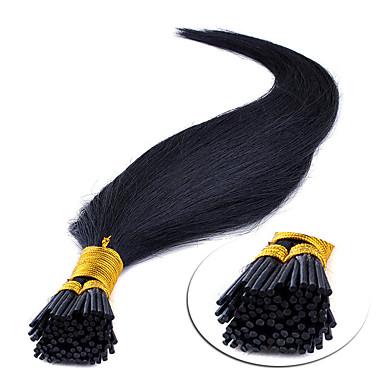"""povoljno Ekstenzije za kosu-16"""" srednje smeđa (# 4) 100s držati savjet ljudske kose ekstenzije"""