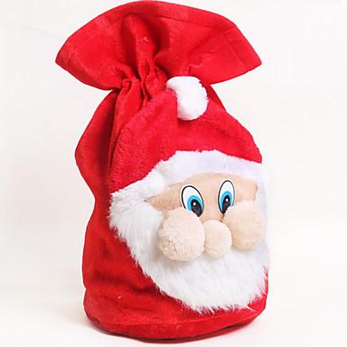 ตกแต่งวันคริสมาสต์ ของขวัญวันคริสต์มาส อุปกรณ์งานคริสต์มาส Santa Suits ภาชนะ เสื้อผ้า ผู้ใหญ่ เด็กผู้ชาย เด็กผู้หญิง Toy ของขวัญ 1 pcs