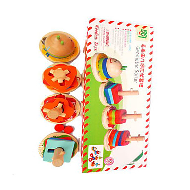 Building Blocks สำหรับเป็นของขวัญ Building Blocks Leisure Hobbies สี่เหลี่ยมจตุรัส ไม้ 2 ถึง 4 ปี 5 ถึง 7 ปี สายรุ้ง Toys