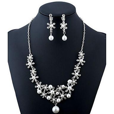 Set Bijuterii Perle Perle Imitație De Diamant De Mireasă La Modă