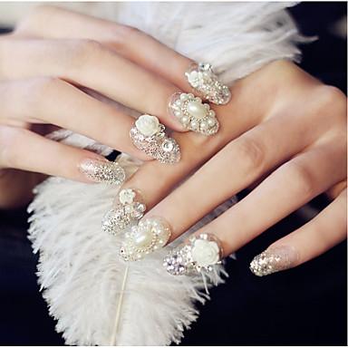 24 Pearls Rhinestones Nail Jewelry Glitters Fashion High Quality Daily