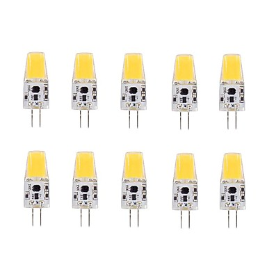 หลอด LED รูปข้าวโพด 220-240 lm G4 T 1 ลูกปัด LED COB ขาวนวล 12 V / 10 ชิ้น
