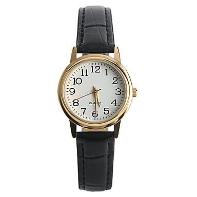 สำหรับผู้หญิง นาฬิกาข้อมือ นาฬิกาอิเล็กทรอนิกส์ (Quartz) PU Leather ดำ นาฬิกาใส่ลำลอง / ระบบอนาล็อก สุภาพสตรี ไม่เป็นทางการ แฟชั่น - สีดำ หนึ่งปี อายุการใช้งานแบตเตอรี่ / Tianqiu 377