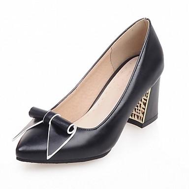 Mujer Zapatos Lentejuelas / PU Verano / Otoño Confort / Talón Descubierto Zuecos y pantuflas Paseo Tacón Cuadrado Dedo Puntiagudo / Punta VKTinIRN