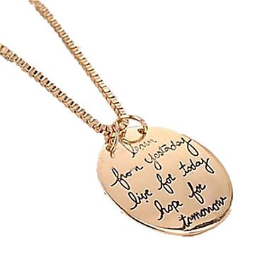 levne Dámské šperky-Dámské Náhrdelníky s přívěšky Budoucnost budoucnosti dámy Módní počáteční šperky Slitina Stříbrná Zlatá Náhrdelníky Šperky Pro Zvláštní příležitosti Narozeniny Dar Denní Ležérní Sport