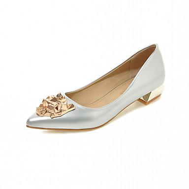 Mujer Zapatos Semicuero Primavera Otoño Confort Tacones Tacón Bajo Dedo  Puntiagudo Purpurina para Casual Oficina y carrera Vestido Plata 5492786  2019 – ... 0c016fd94784