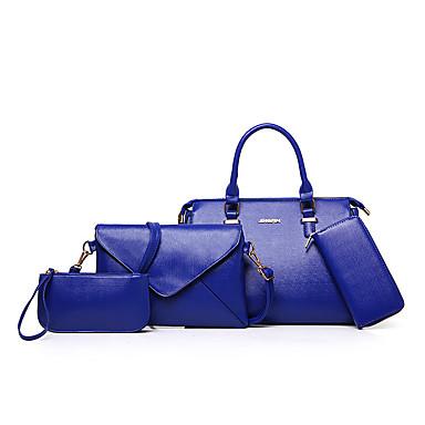 9afb01cfe80 Mujer Bolsos PU Tote   Bolsa de hombro   mochila Set de 4 piezas de monedero