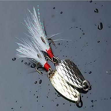 1 pcs Hard Bait Spoons ที่ลวงตาในเบ็ด Spoons อุปกรณ์ลอยน้ำ Bass ปลาเทราท์ หอก ตกปลาทะเล ปลาน้ำจืด Metal