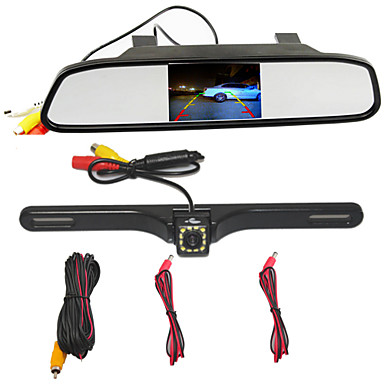 billige Bil-DVR-BYNCG WG34 480p Bil DVR 170 grader Bred vinkel 4.3 tommers TFT Dash Cam med Parkeringsmodus Nei Bilopptaker
