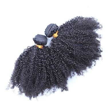povoljno Ekstenzije od ljudske kose-Mongolska kosa Klasika Kinky Curly Ljudska kosa Ljudske kose plete Isprepliće ljudske kose Proširenja ljudske kose / 8A