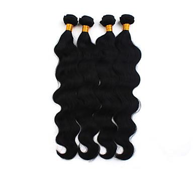 povoljno Ekstenzije od ljudske kose-4 paketića Brazilska kosa Tijelo Wave Ljudska kosa Ljudske kose plete Isprepliće ljudske kose Proširenja ljudske kose / 8A