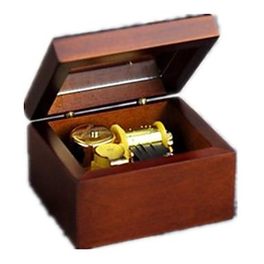กล่องดนตรี Trekk-opp-leker คลาสสิกและถาวร ของขวัญ ไม้ เด็กผู้หญิง ของขวัญ