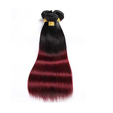 povoljno Ekstenzije od ljudske kose-Brazilska kosa Ravan kroj Ljudska kosa Ombre Isprepliće ljudske kose Proširenja ljudske kose / 8A
