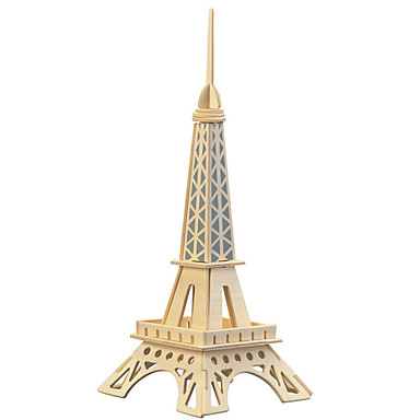 levne 3D puzzle-Dřevěné puzzle Hračky Věž Slavné stavby Eiffelova věž profesionální úroveň Dřevo Žehlička Chlapecké Dívčí 1 Pieces
