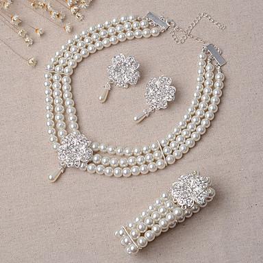 24315eb6e1a Šperky Náhrdelníky Küpeler Náramek Svatební šperky Soupravy Sada Svatební  Párty 3ks Dámské Slonová kost Svatební dary 5489554 2019 –  14.99