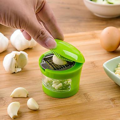 preiswerte Küchenutensilien & Gadgets-Knoblauchhacker Edelstahl Knoblauchpresse Ingwermaischmaschine Knoblauchschneider