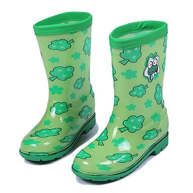 f4260919eef Para Meninas Sapatos PVC Outono Inverno Plástico Botas de Chuva Botas  Rasteiro Para Roxo Marron Vermelho Verde Rosa claro de 5472357 2019 por   18.99