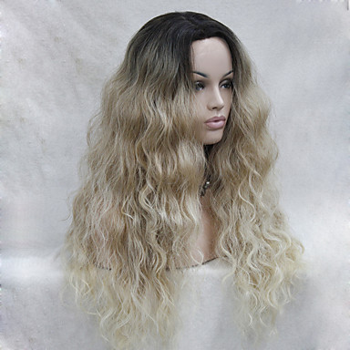 07aeb5f75f7eab Synthetic Lace Front Wig Wavy Blonde Layered Haircut Blonde Synthetic Hair  Women's Dark Roots / Natural Hairline Blonde / Ombre Wig Long Lace Front  5474781 ...