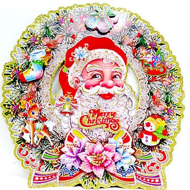 ตกแต่งวันคริสมาสต์ อุปกรณ์งานคริสต์มาส น่ารัก กระดาษ ผู้ใหญ่ Toy ของขวัญ 2 pcs