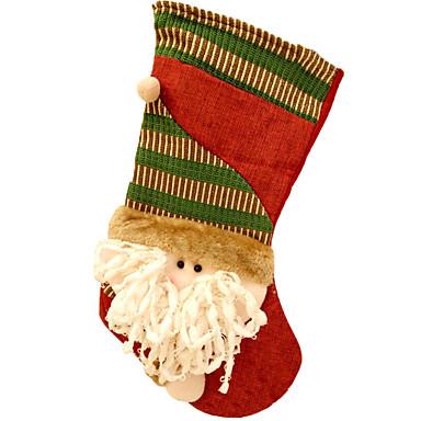 ตกแต่งวันคริสมาสต์ อุปกรณ์งานคริสต์มาส กระเป๋าของขวัญ Socks Santa Suits มนุษย์หิมะ สิ่งทอ ผู้ใหญ่ Toy ของขวัญ