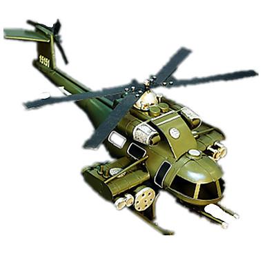 Action Figures & Stuffed Animals จอแสดงผลรุ่น เฮลิคอปเตอร์ เรทโทร บทความเกี่ยวกับเครื่องตกแต่ง Fighter เฮลิคอปเตอร์ เหล็ก Metal เด็กผู้ชาย เด็กผู้หญิง Toy ของขวัญ