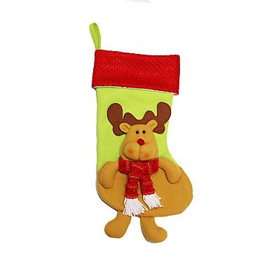 ของเล่นคริสมาสต์ กระเป๋าของขวัญ Socks Santa Suits Elk สิ่งทอ ผู้ใหญ่ Toy ของขวัญ 3 pcs