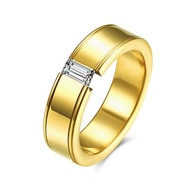 c0f2dc5b5 Pánské Prsten - Pozlaceno 18k, Titanová ocel, Umělé diamanty Luxus, Módní 7  / 8 / 9 Zlatá Pro Ležérní 5498240 2019 – $6.29