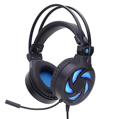 Soyto sy855mv การเล่นเกมชุดหูฟังไฟ led สายการเล่นเกมส่องสว่างเสียงแยกพร้อมไมโครโฟนสำหรับโอ๊ย pubg dota คอมพิวเตอร์พีซี gamer