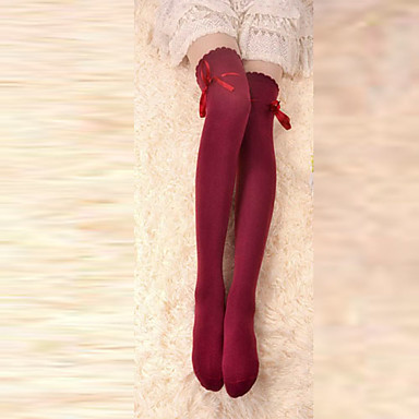 543095d7af5 Women s Ribbons Lace Up Socks   Long Stockings Red Bowknot Lolita  Accessories 626700 2019 –  10.19