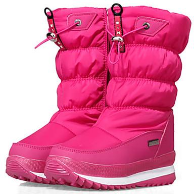 ทุกเพศ เด็กผู้ชาย เด็กผู้หญิง Winter Boots Cowsuede Leather ไนลอน Skiing ตกต่ำ กันน้ำ ป้องกันการลื่นล้ม การเพิ่มความสูง ฤดูหนาว