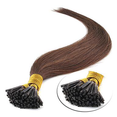 povoljno Ekstenzije za kosu-Febay Ekstenzije s I vrhom Proširenja ljudske kose Ravan kroj Ljudska kosa Jagoda blond