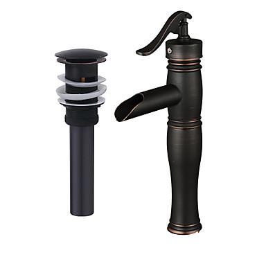 ชุดก๊อกน้ำ - Pre Rinse / น้ำตก / กระจาย ทองแดงขัดน้ำมัน ตัวเจาะนำศูนย์ จับเดี่ยวหนึ่งหลุมBath Taps